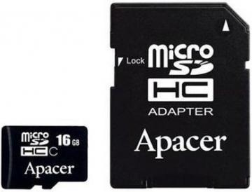 Micro SD (с адаптером) 16 GB Class 10 Apacer